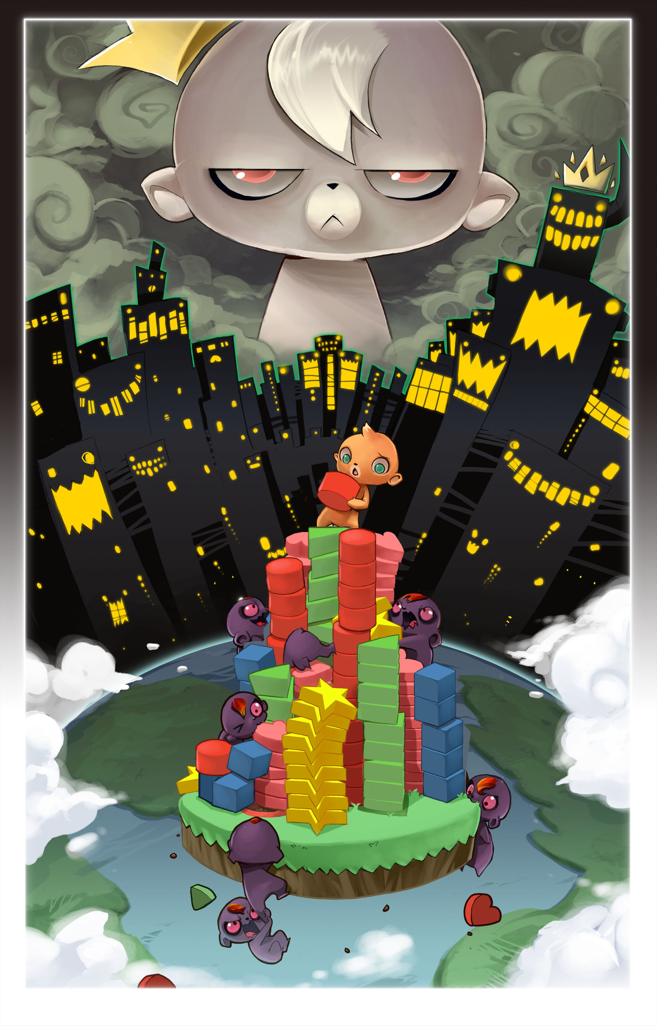 Pantallazo de Roogoo Twisted Towers! para Wii