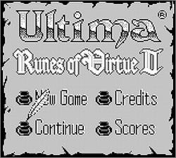 Pantallazo de Runes of Virtue II para Game Boy