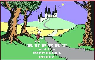 Pantallazo de Rupert and the ToyMaker´s Party para Commodore 64
