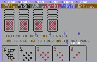 Pantallazo de Saloon Poker para Commodore 64