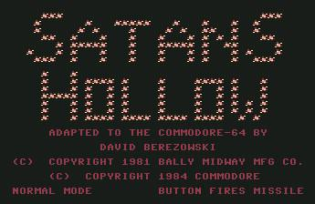 Pantallazo de Satans Hollow para Commodore 64