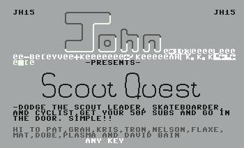 Pantallazo de Scout Quest para Commodore 64