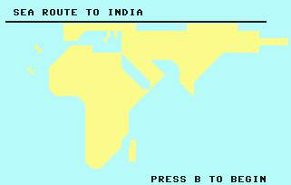 Pantallazo de Sea Route to India para Commodore 64