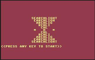 Pantallazo de Searchlight para Commodore 64