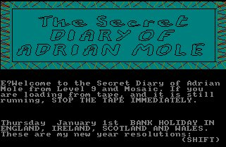 Pantallazo de Secret Diary Of Adrian Mole, The para Amstrad CPC