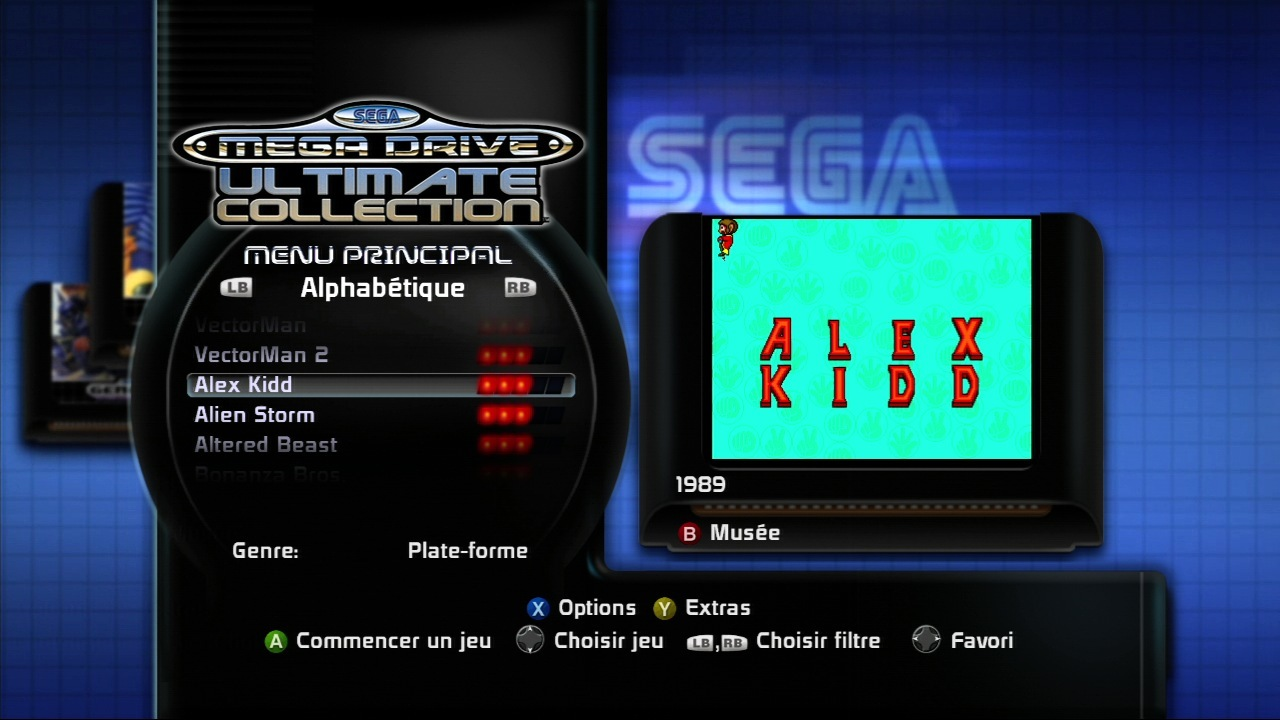 Pantallazo de Sega Mega Drive Ultimate Collection para Xbox 360