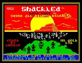 Pantallazo de Shackled para Spectrum