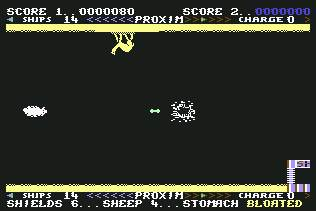 Pantallazo de Sheep in Space para Commodore 64