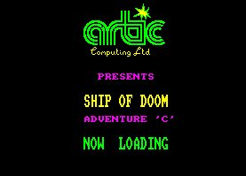 Pantallazo de Ship Of Doom: Adventure C para Amstrad CPC