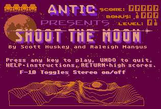 Pantallazo de Shoot the Moon para Atari ST