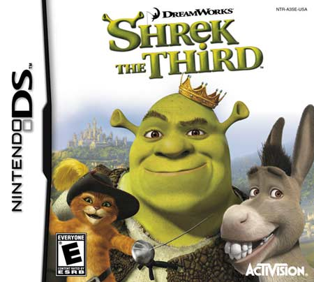 Caratula de Shrek the Third para Nintendo DS