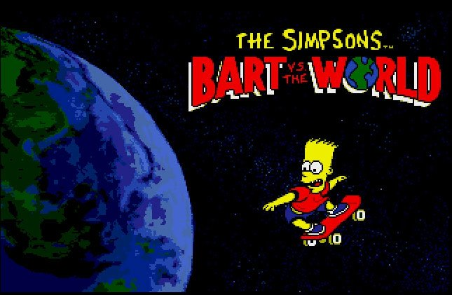 Pantallazo de Simpsons: Bart vs. The World, The para Atari ST