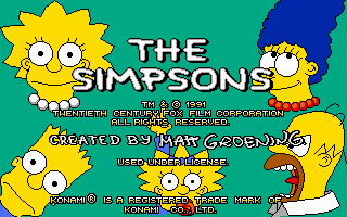 Pantallazo de Simpsons: The Arcade Game, The para PC