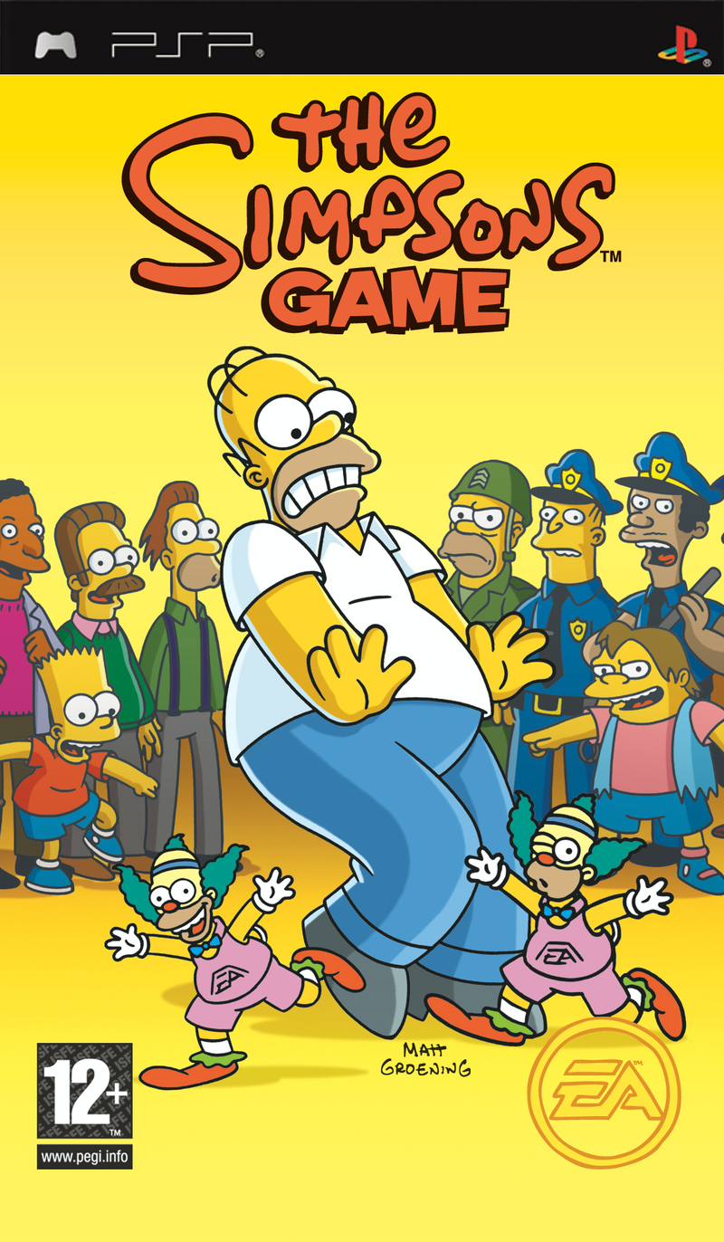 Caratula de Simpsons Game, The para PSP