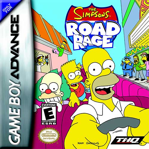 Caratula de Simpsons Road Rage, The para Game Boy Advance