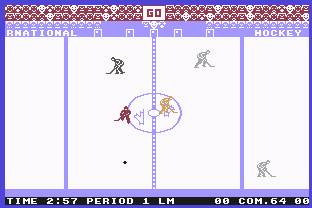 Pantallazo de Slap Shot II: International_hockey para Commodore 64