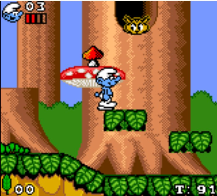 Pantallazo de Smurfs, The para Gamegear