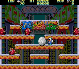 Pantallazo de Snow Bros. Starring Nick and Tom (Japonés) para Sega Megadrive