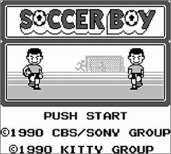 Pantallazo de Soccer Boy para Game Boy
