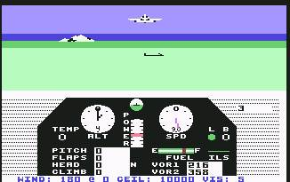 Pantallazo de Solo Flight para Commodore 64