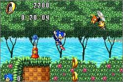 Pantallazo de Sonic Advance para Game Boy Advance