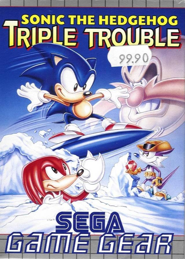 Caratula de Sonic the Hedgehog: Triple Trouble para Gamegear
