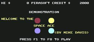 Pantallazo de Space Ace para Commodore 64