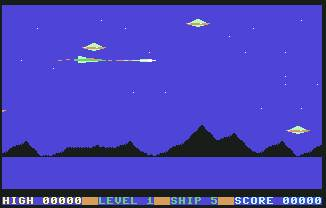 Pantallazo de Space Blitz para Commodore 64