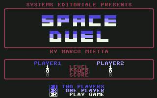 Pantallazo de Space Duel para Commodore 64