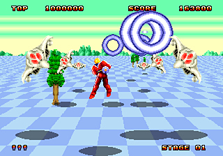 Pantallazo de Space Harrier II (Consola Virtual) para Wii