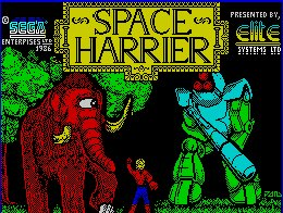 Pantallazo de Space Harrier para Spectrum
