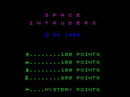 Pantallazo de Space Intruders para Spectrum