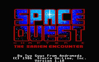 Pantallazo de Space Quest I: Roger Wilco in the Sarien Encounter para Atari ST