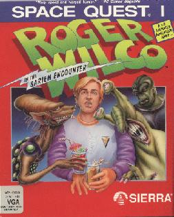 Caratula de Space Quest I: Roger Wilco in the Sarien Encounter para PC