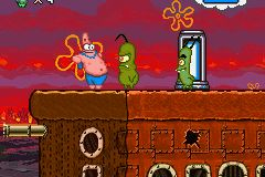 Pantallazo de SpongeBob SquarePants: Creature from the Krusty Krab para Game Boy Advance