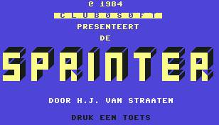 Pantallazo de Sprinter para Commodore 64