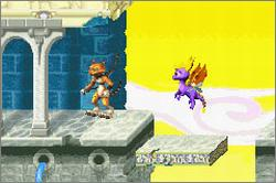 Pantallazo de Spyro Orange: The Cortex Conspiracy para Game Boy Advance