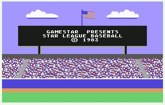 Pantallazo de Star League Baseball para Commodore 64