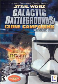 Caratula de Star Wars: Galactic Battlegrounds -- Clone Campaigns para PC