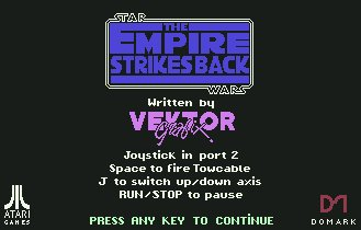 Pantallazo de Star Wars: The Empire Strikes Back para Commodore 64