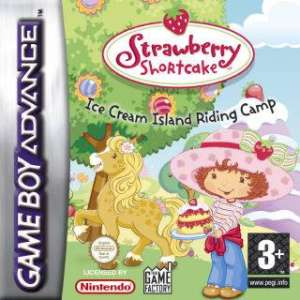 Caratula de Strawberry Shortcake - Ice Cream Island Riding Camp para Game Boy Advance