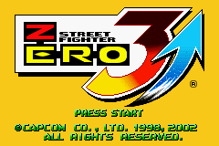 Pantallazo de Street Fighter Zero 3 Upper (Japonés) para Game Boy Advance
