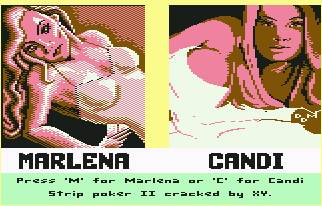 Pantallazo de Strip Poker II para Commodore 64