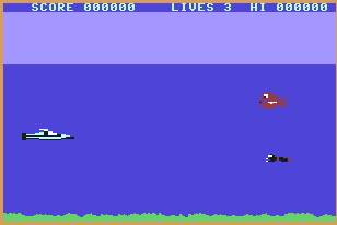 Pantallazo de Sub Hunt para Commodore 64