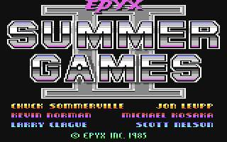 Pantallazo de Summer Games II para Commodore 64