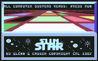 Pantallazo de Sun Star para Commodore 64