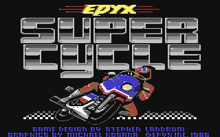 Pantallazo de Super Cycle para Commodore 64