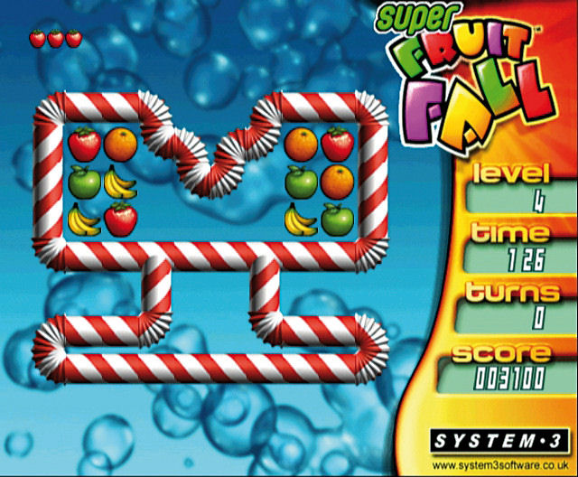 Pantallazo de Super Fruit Fall para Wii