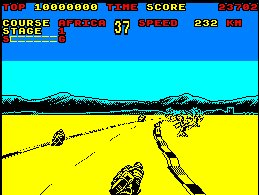 Pantallazo de Super Hang On para Amstrad CPC