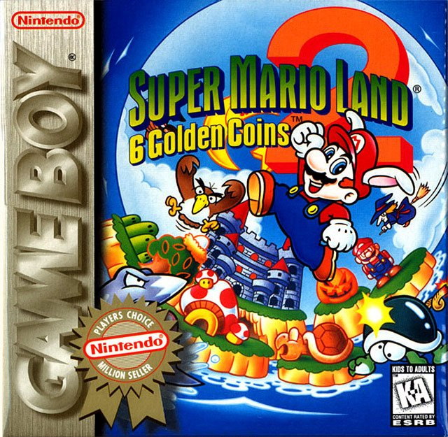 Caratula de Super Mario Land 2: 6 Golden Coins para Game Boy
